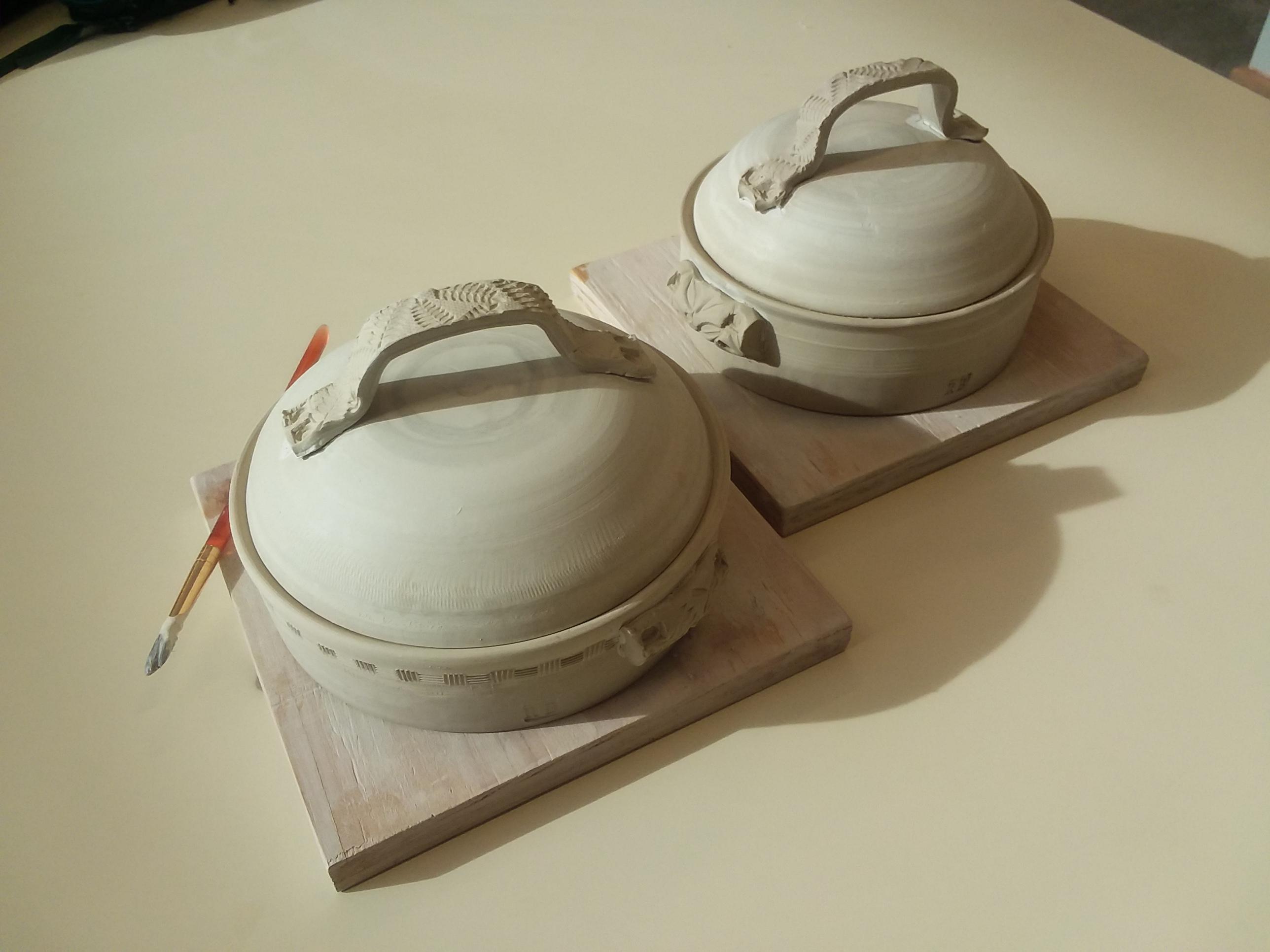 casorole dish in process
